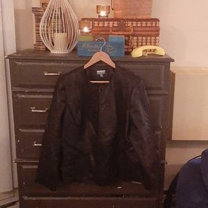 Tres You Faux Leather Jacket in Black